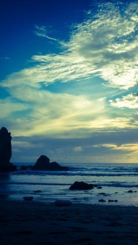 Adraga, our nearest beach